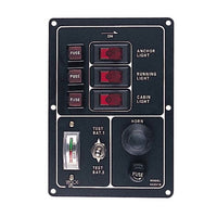 Sea Dog Battery Test Switch Panel with Gauge and Horn Button - Huls Outdoors