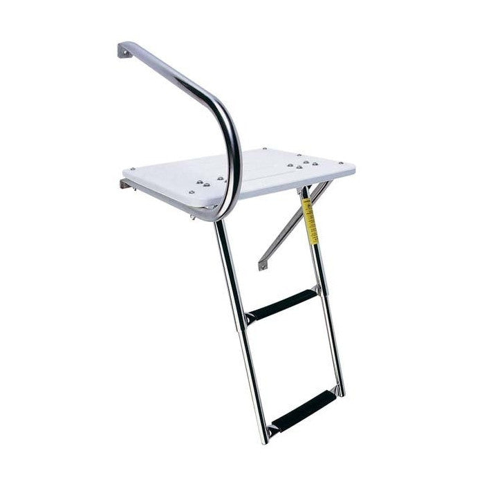 Garelick Outboard Transom Platform w/Telescoping Ladder - Huls Outdoors