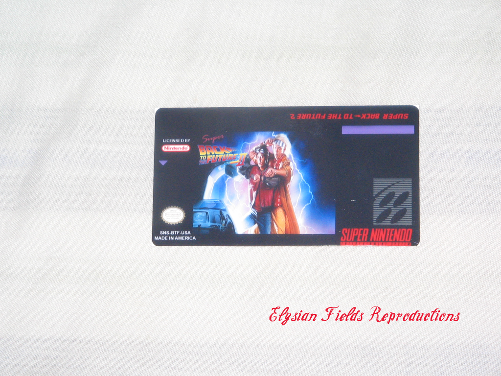 Super Back to the Future II label only