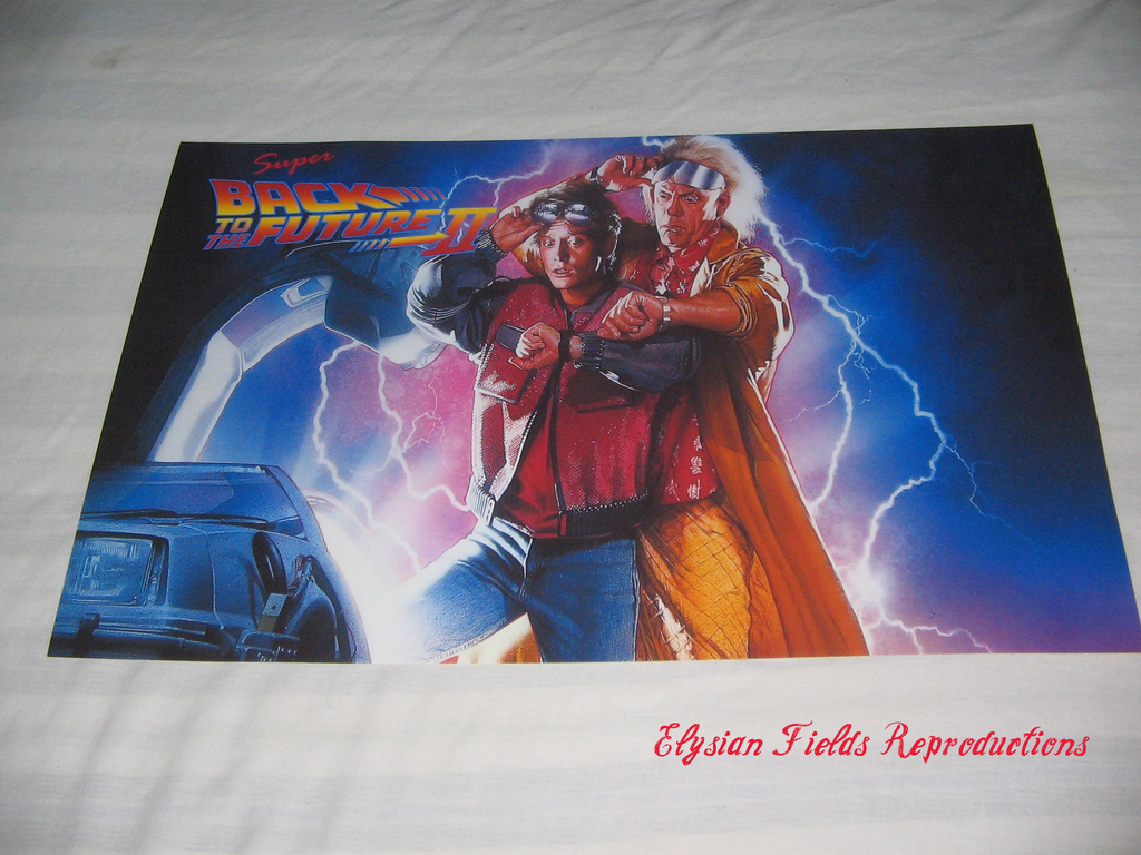 Super Back to the Future II poster only