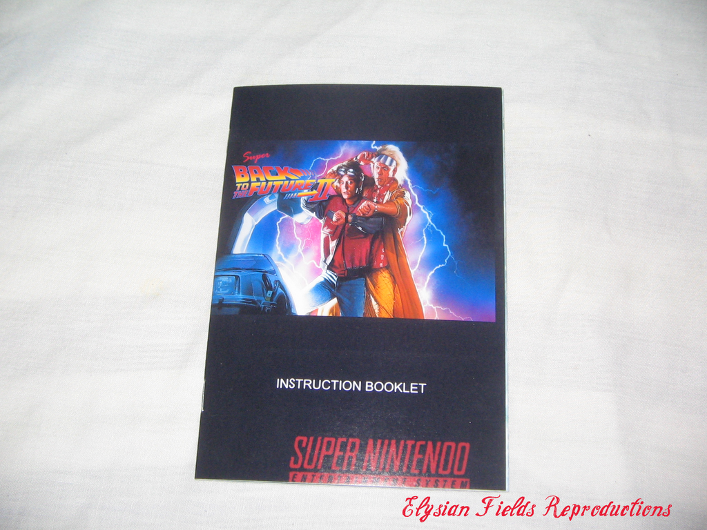 Super Back to the Future II English translated manual only