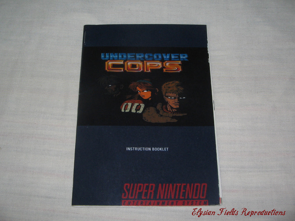 Undercover Cops English translated manual only
