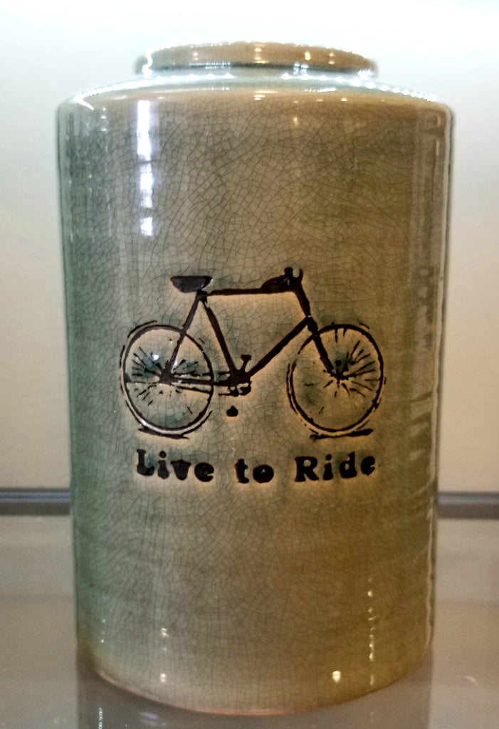 Live To Ride Wide Urn Decor