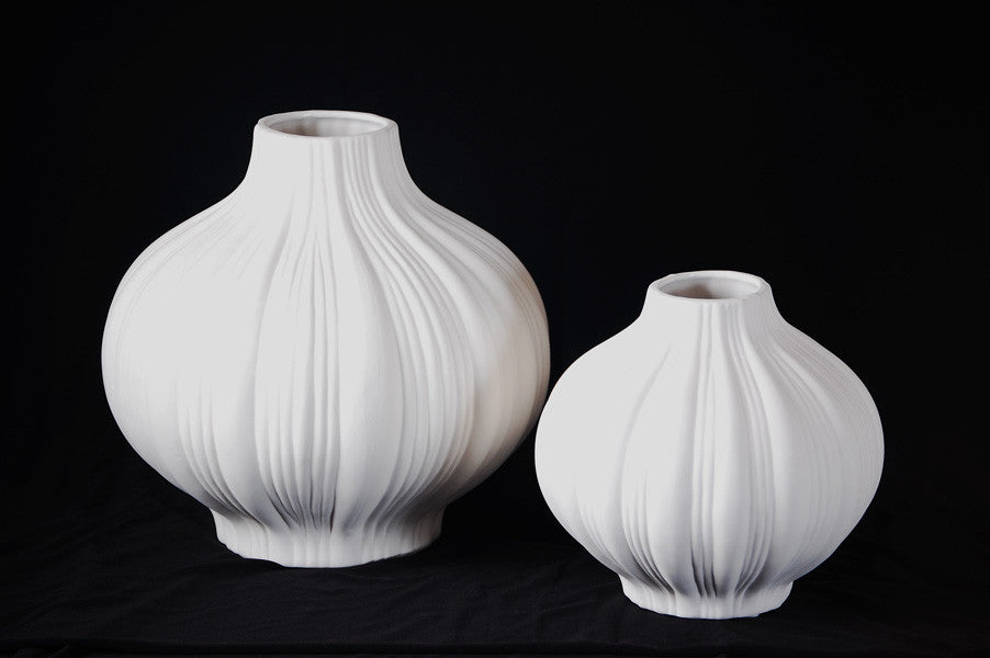Medis White Vase - Set of 2