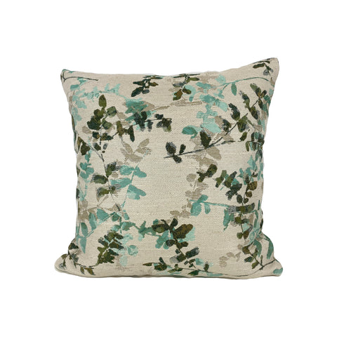 Acadia Turquoise Throw Pillow 17x17""