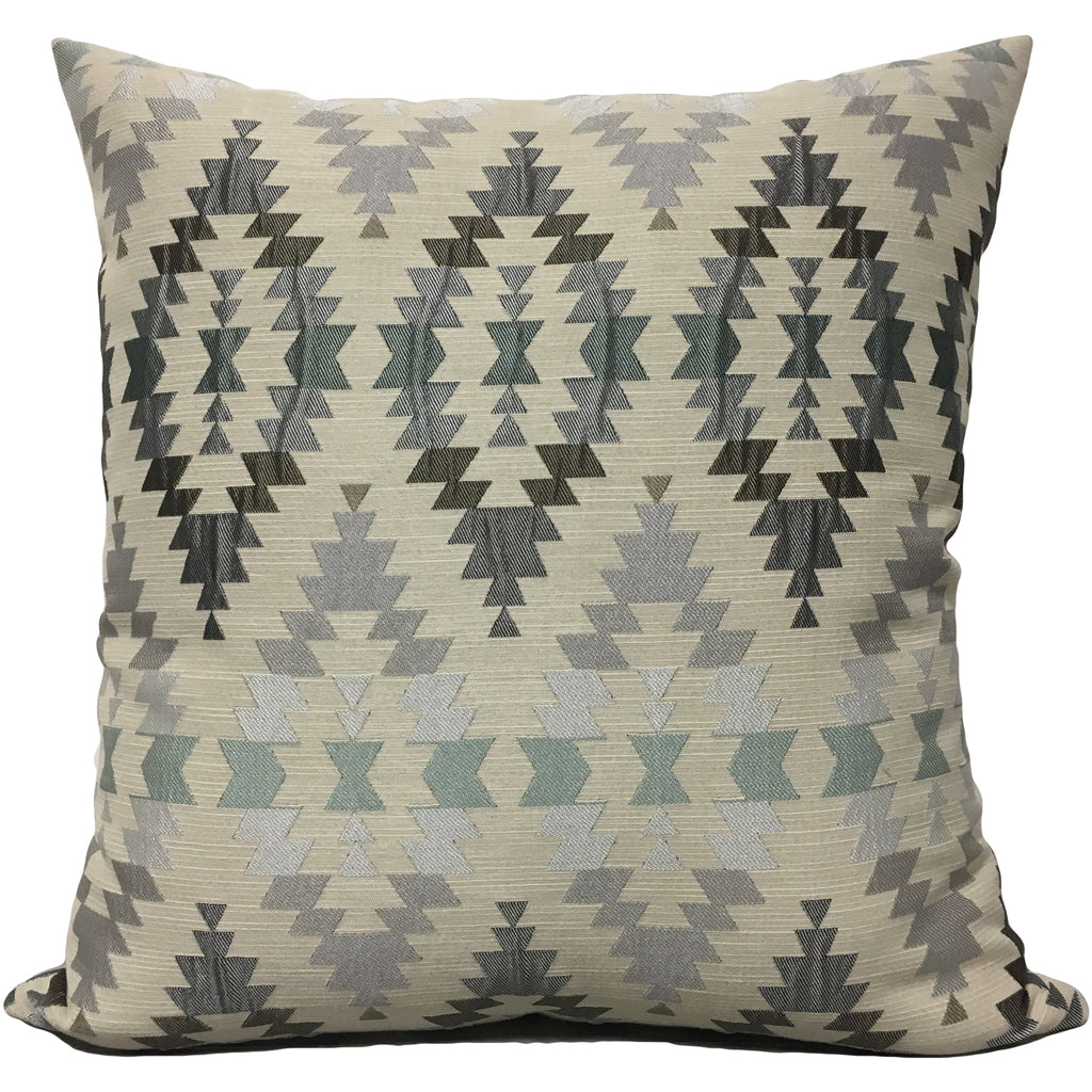 Adobe Silver Geometric Euro Pillow 25x25""