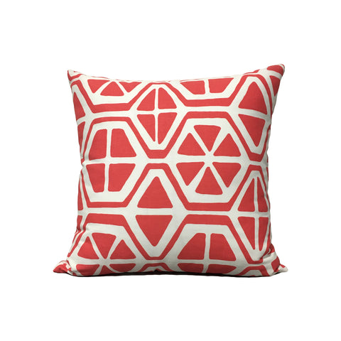 Aiden Coral Geometric Throw Pillow 17x17""