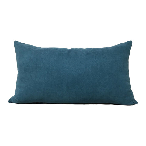 Airbrush Teal Lumbar Pillow 12x22