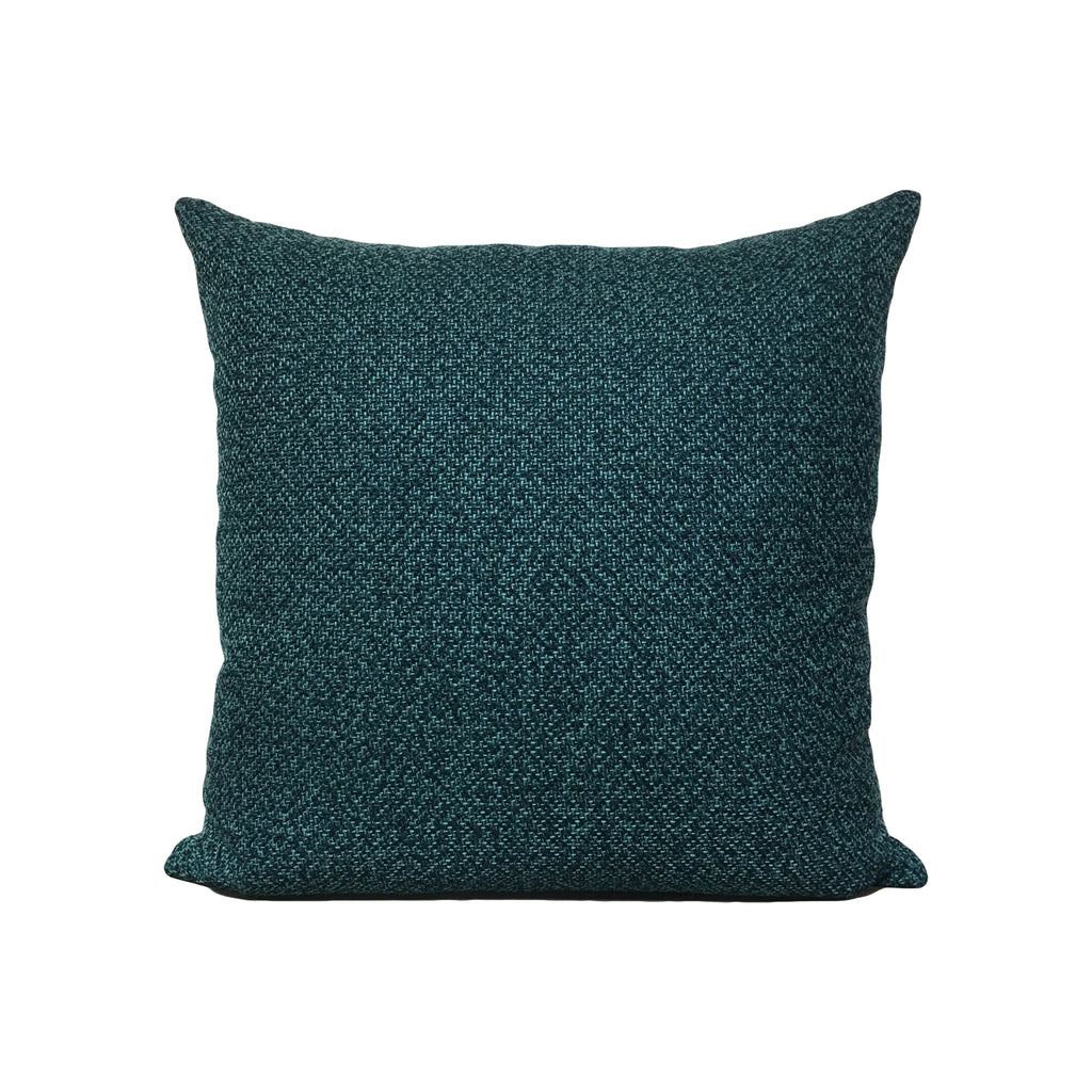 Amour Turquoise Throw Pillow 17x17""