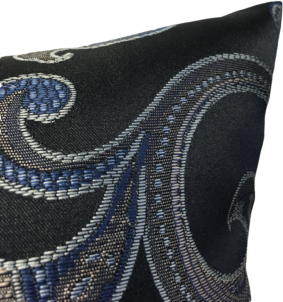 Ankara Lapis Blue Throw Pillow 17x17""