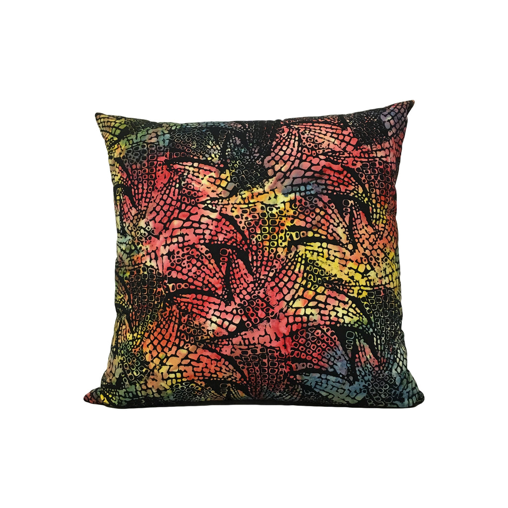 Anthology Croc Batik Throw Pillow 17x17""