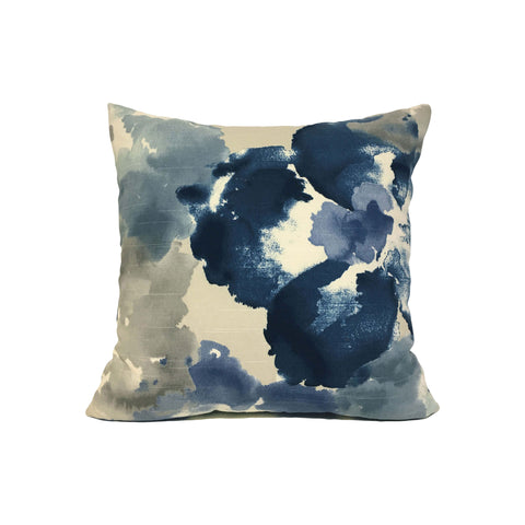Aptura Floral Indigo Throw Pillow 17x17""