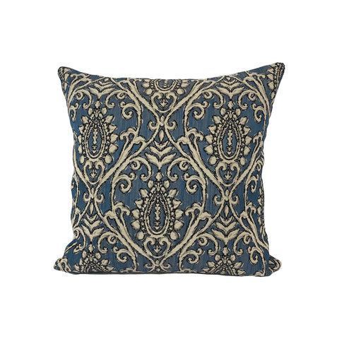Aria Lapis Throw Pillow 17x17""