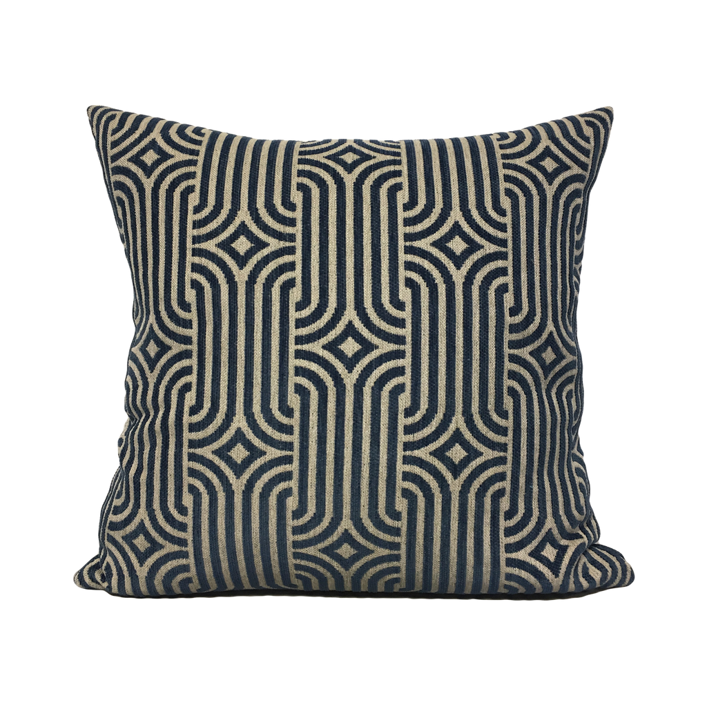 Aristocrat Blue Throw Pillow 20x20""