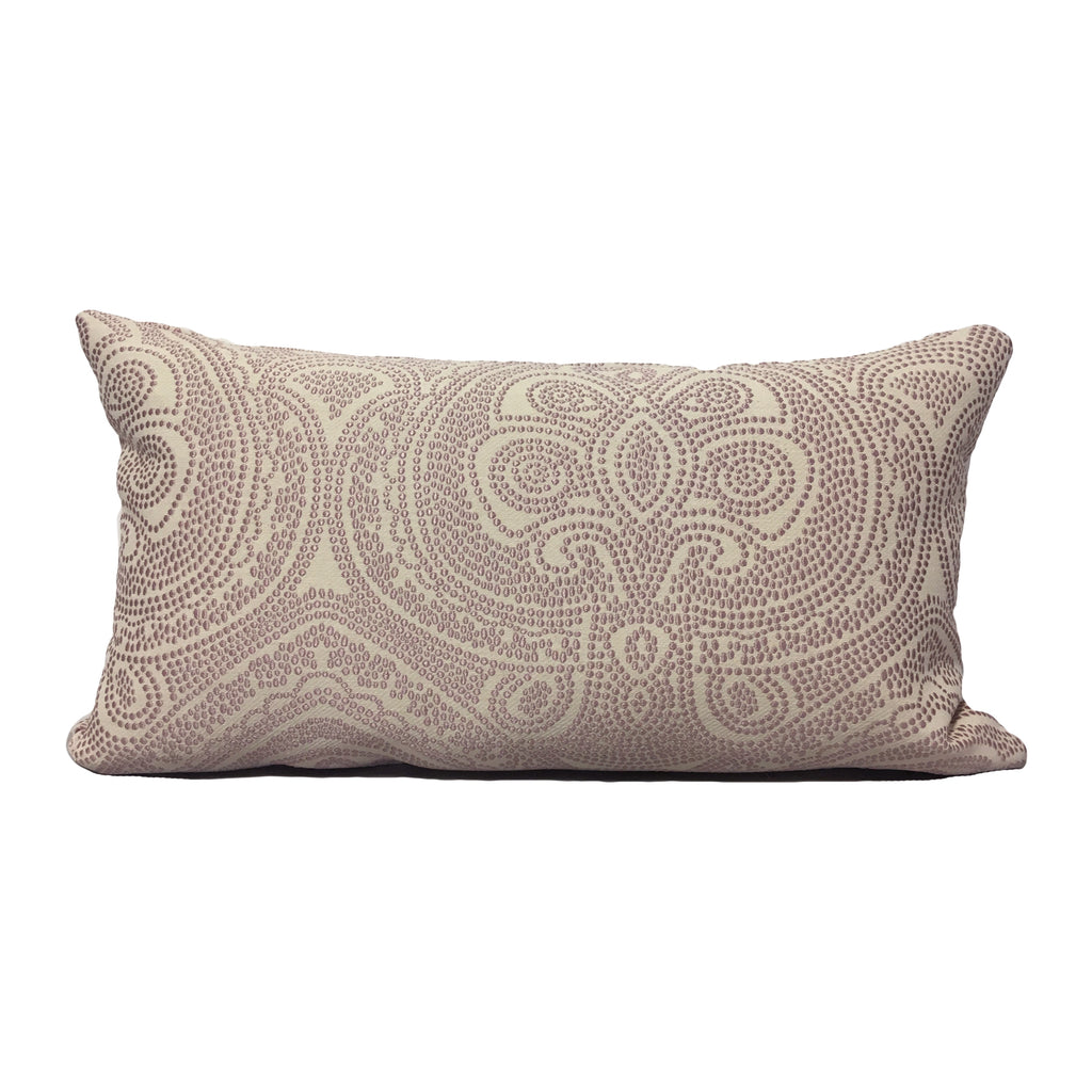 Arrow Point Rosebud Lumbar Pillow 12x22""