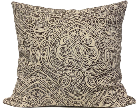 Arrow Point Stone Grey Euro Pillow 25x25""