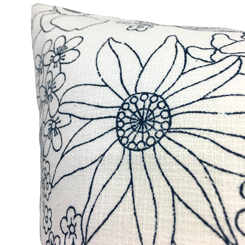 Artistry Floral Blue Euro Pillow 25x25""