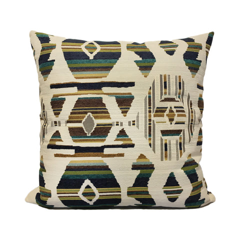 Aztec Bluebird Throw Pillow 20x20""