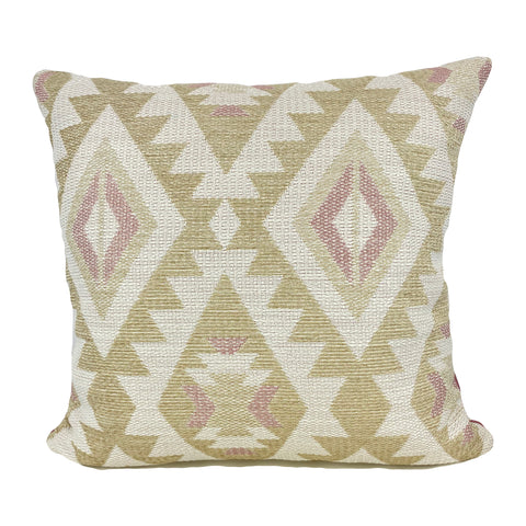 Aztec Linen Rose Throw Pillow 20x20""