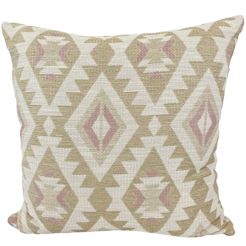 Aztec Linen Rose Euro Pillow 25x25""