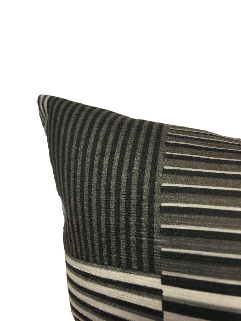 Bauhaus Graphite Throw Pillow 20x20""