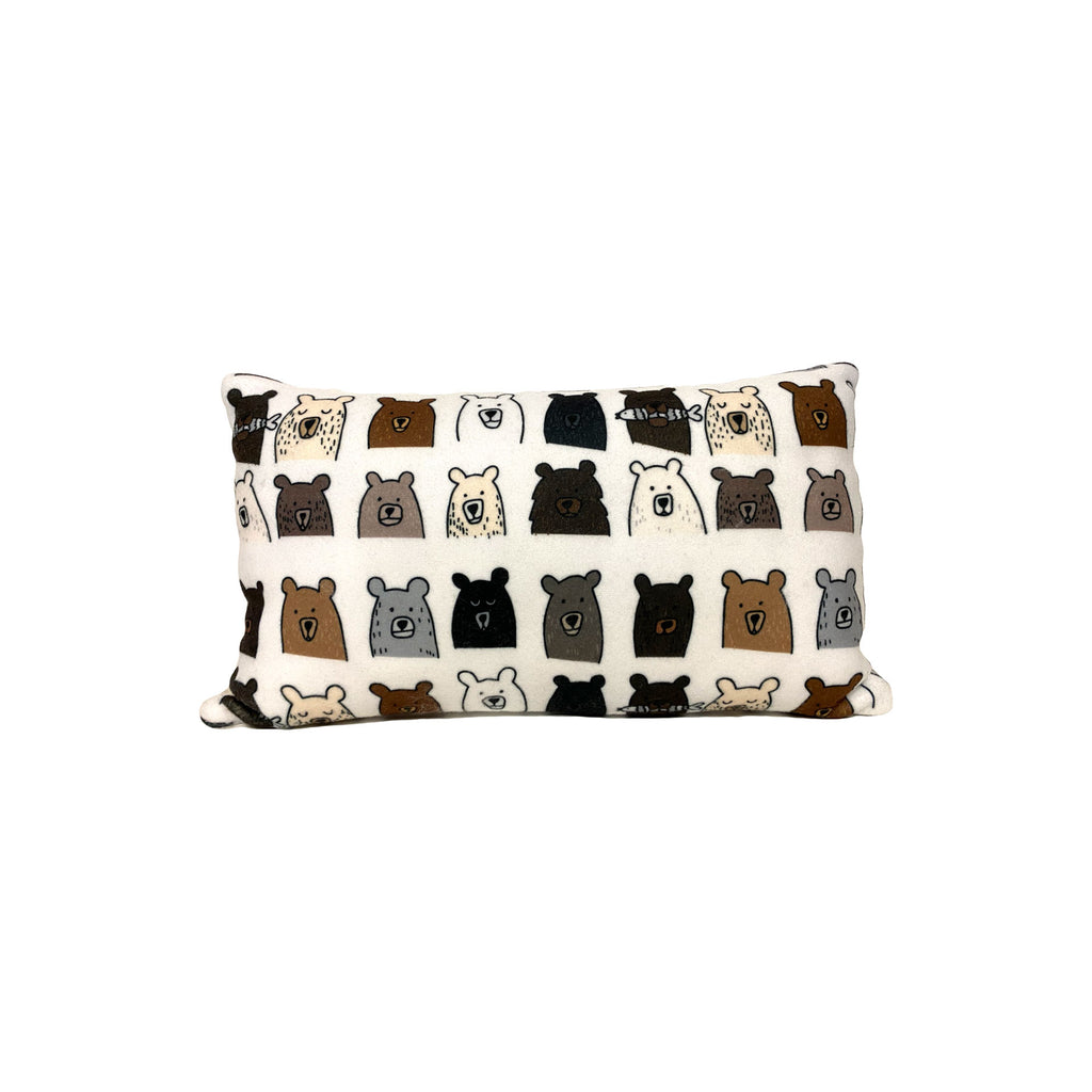 Bears Fleece Pillow 8x13""