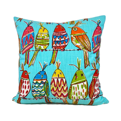 Birds on a Wire Throw Pillow 20x20""