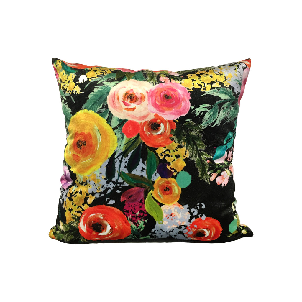 Blooming Floral Throw Pillow 17x17""