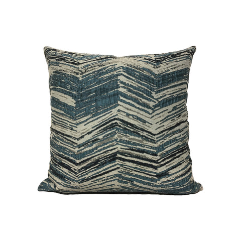 Blue Angle Throw Pillow 17x17""