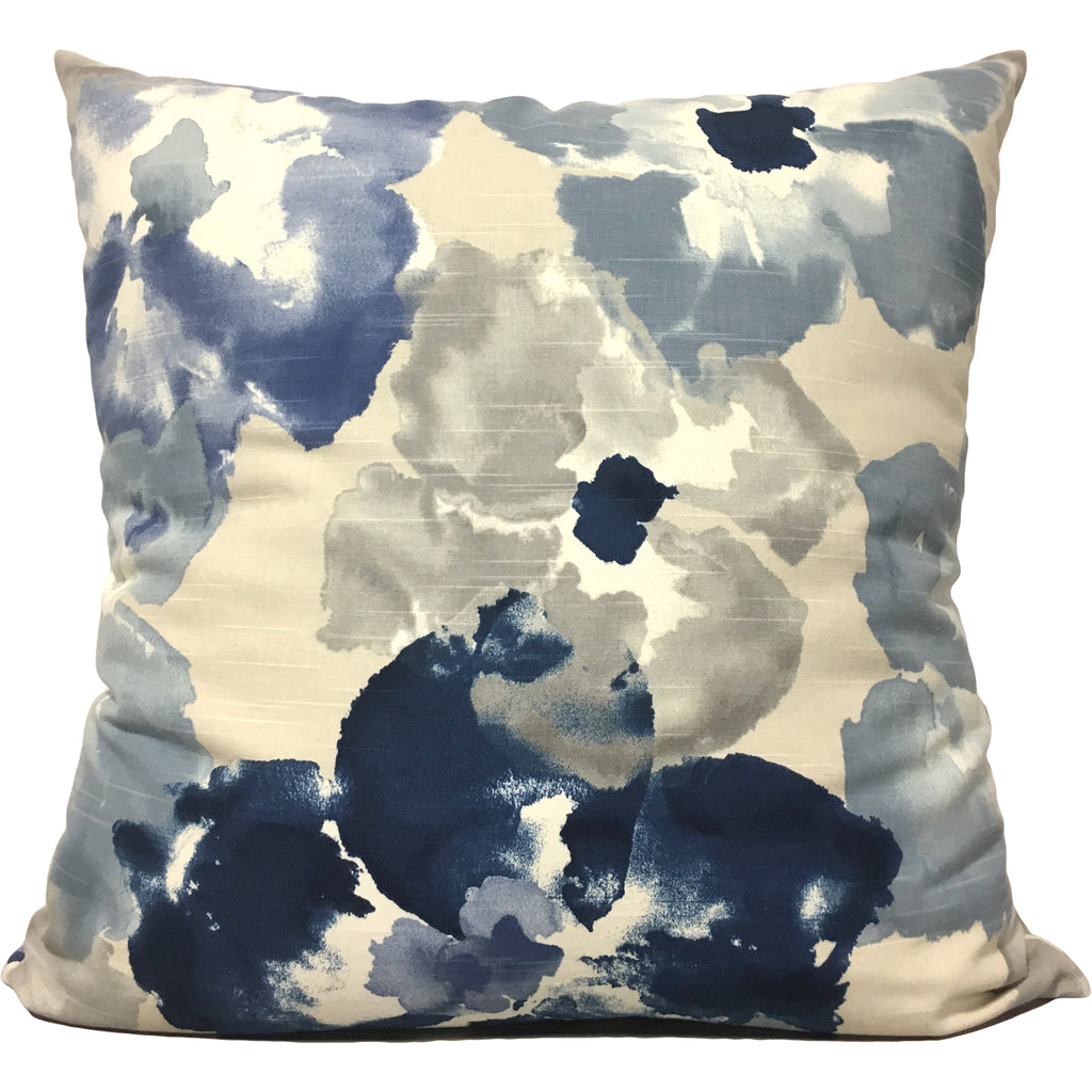Blue Tunes Floral Euro Pillow 25x25""