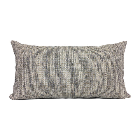Boulder Navy Lumbar Pillow 12x22""