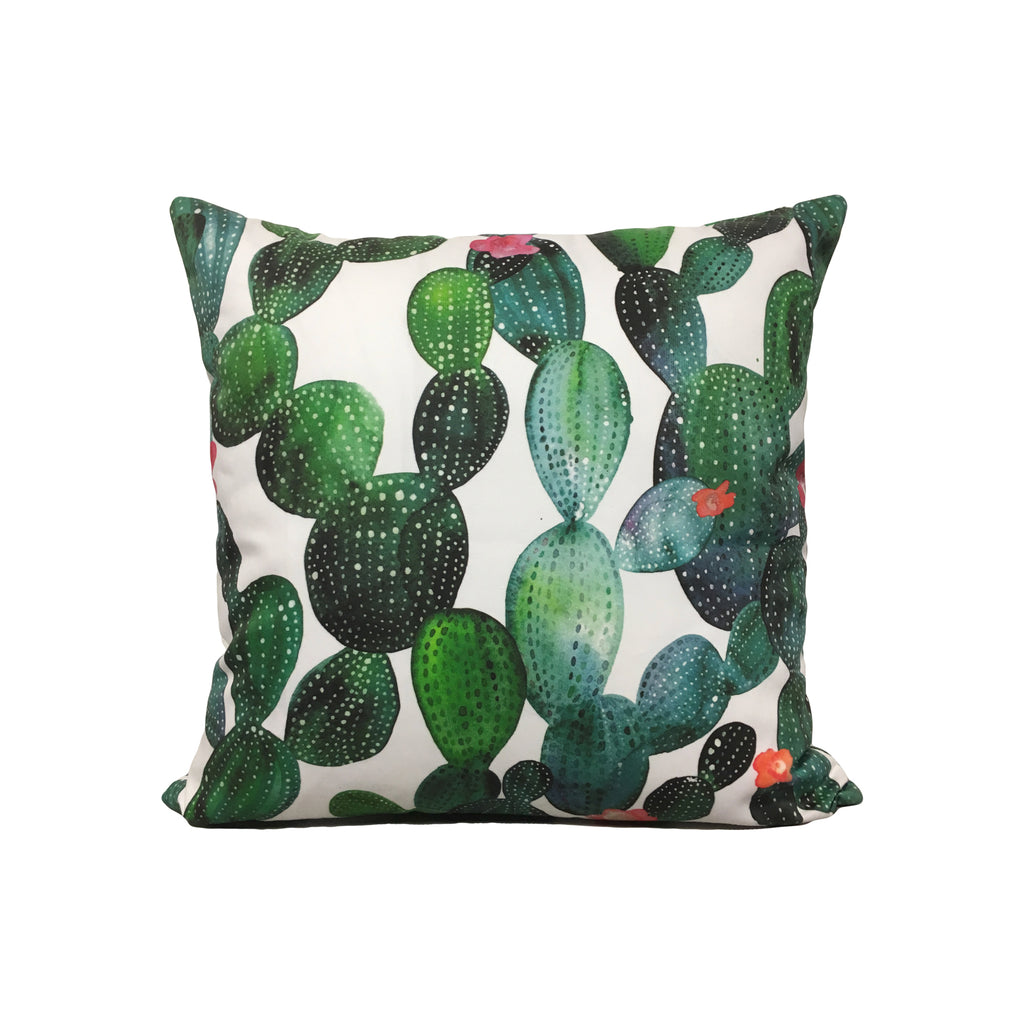 Cactuses Green Wall Throw Pillow 17x17""