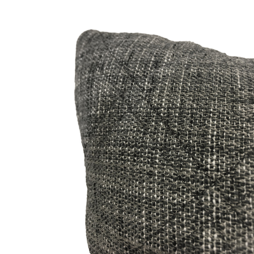 Capture Nickel Grey Lumbar Pillow 12x22""