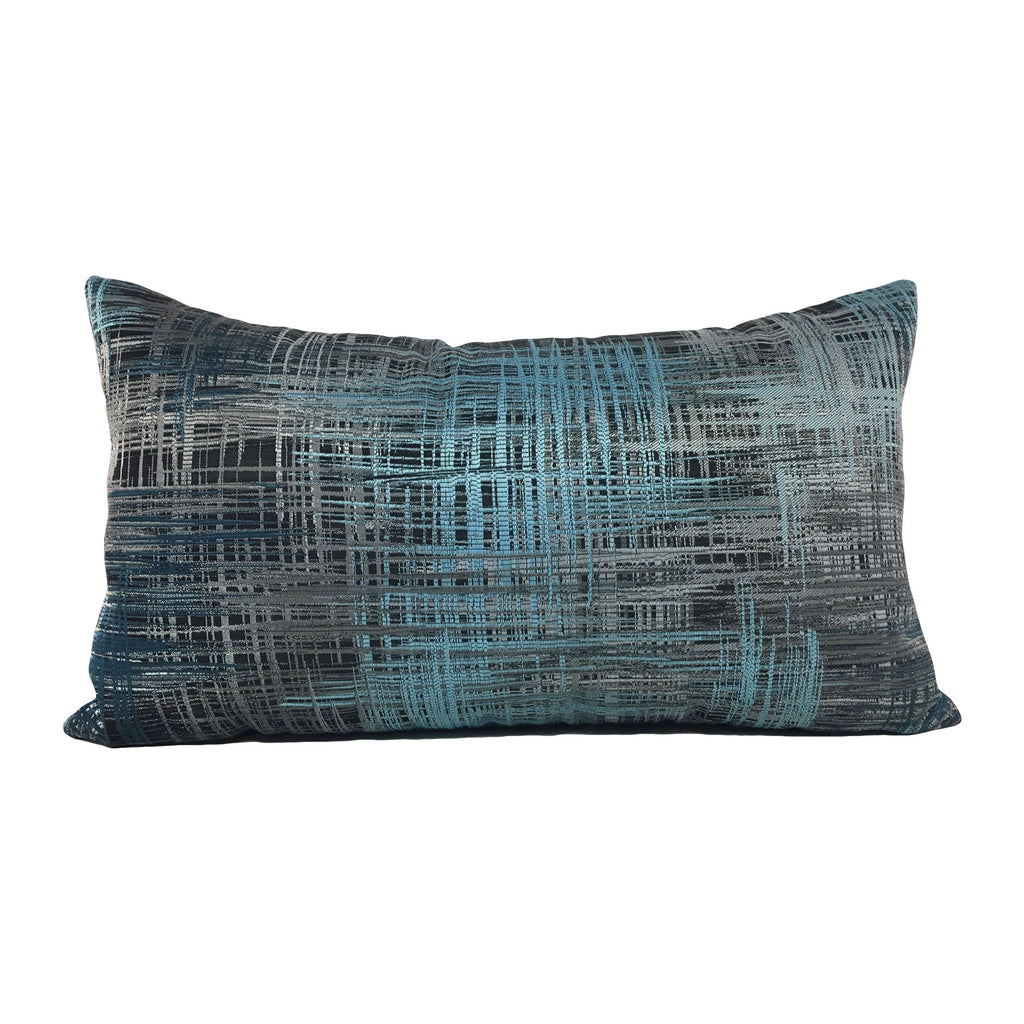 Chaos Pacific Blue Lumbar Pillow 12x22""