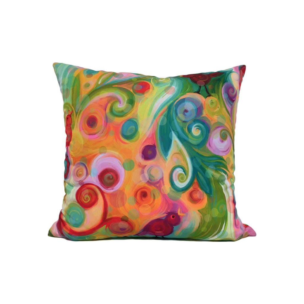 Circle of Friends Colourful Throw Pillow 17x17""