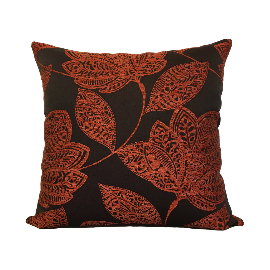 Clark Tangerine Throw Pillow 20x20""
