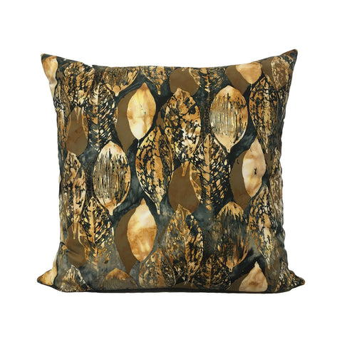 Clove Leaf Batik Throw Pillow 20x20""