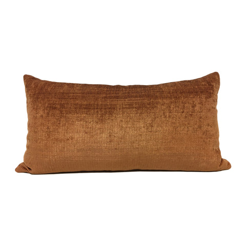 Cocoon Copper Lumbar Pillow 12x22""