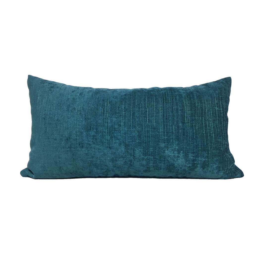Cocoon Peacock Turquoise Lumbar Pillow 12x22""