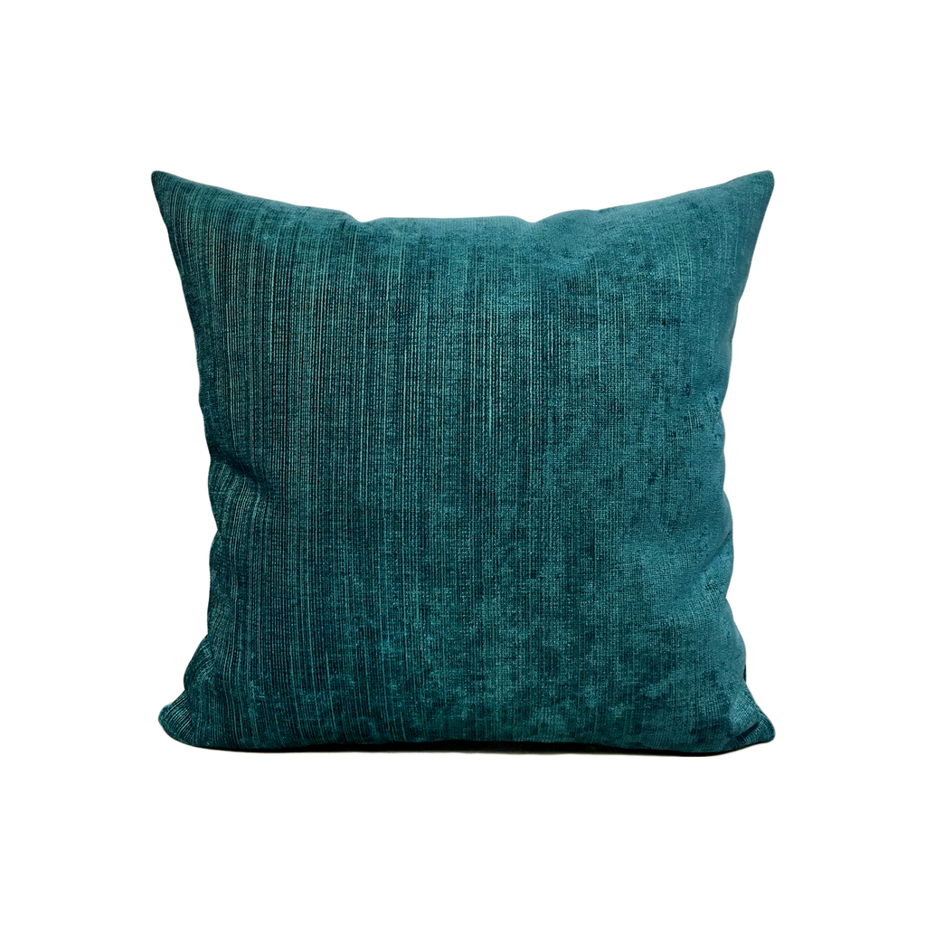 Cocoon Peacock Turquoise Throw Pillow 17x17""