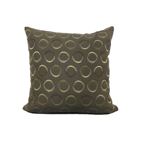 Coins Grey Throw Pillow 17x17""