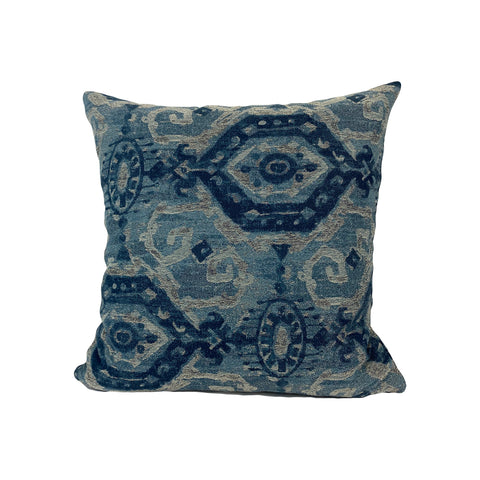 Creed Denim Blue Throw Pillow 17x17""