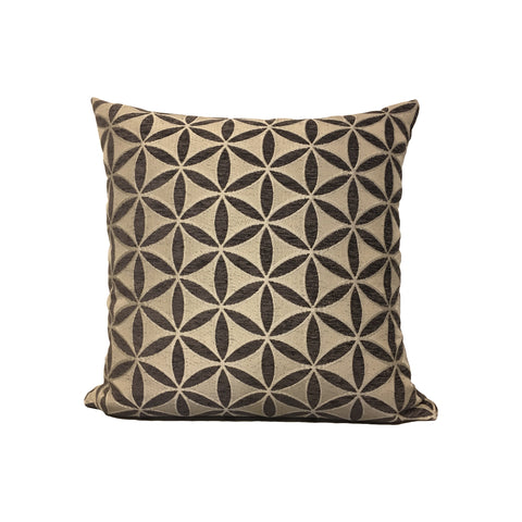 Demeter Charcoal Throw Pillow 17x17""