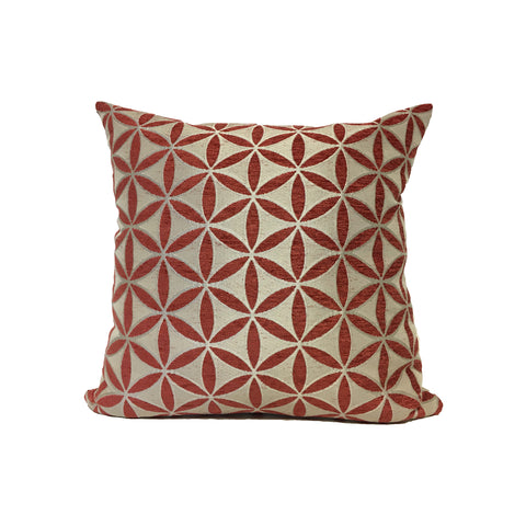Demeter Russet Red Throw Pillow 17x17""