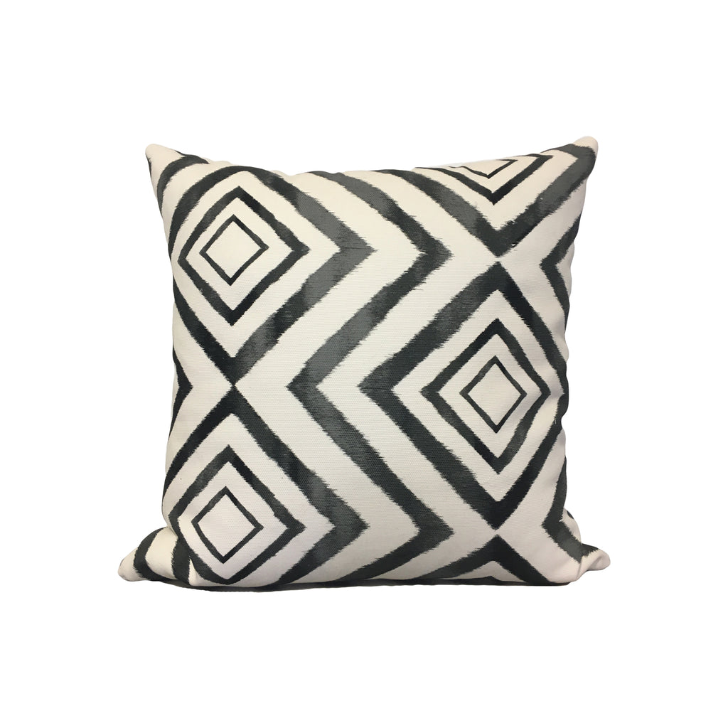 Diamond Ikat Throw Pillow 17x17""
