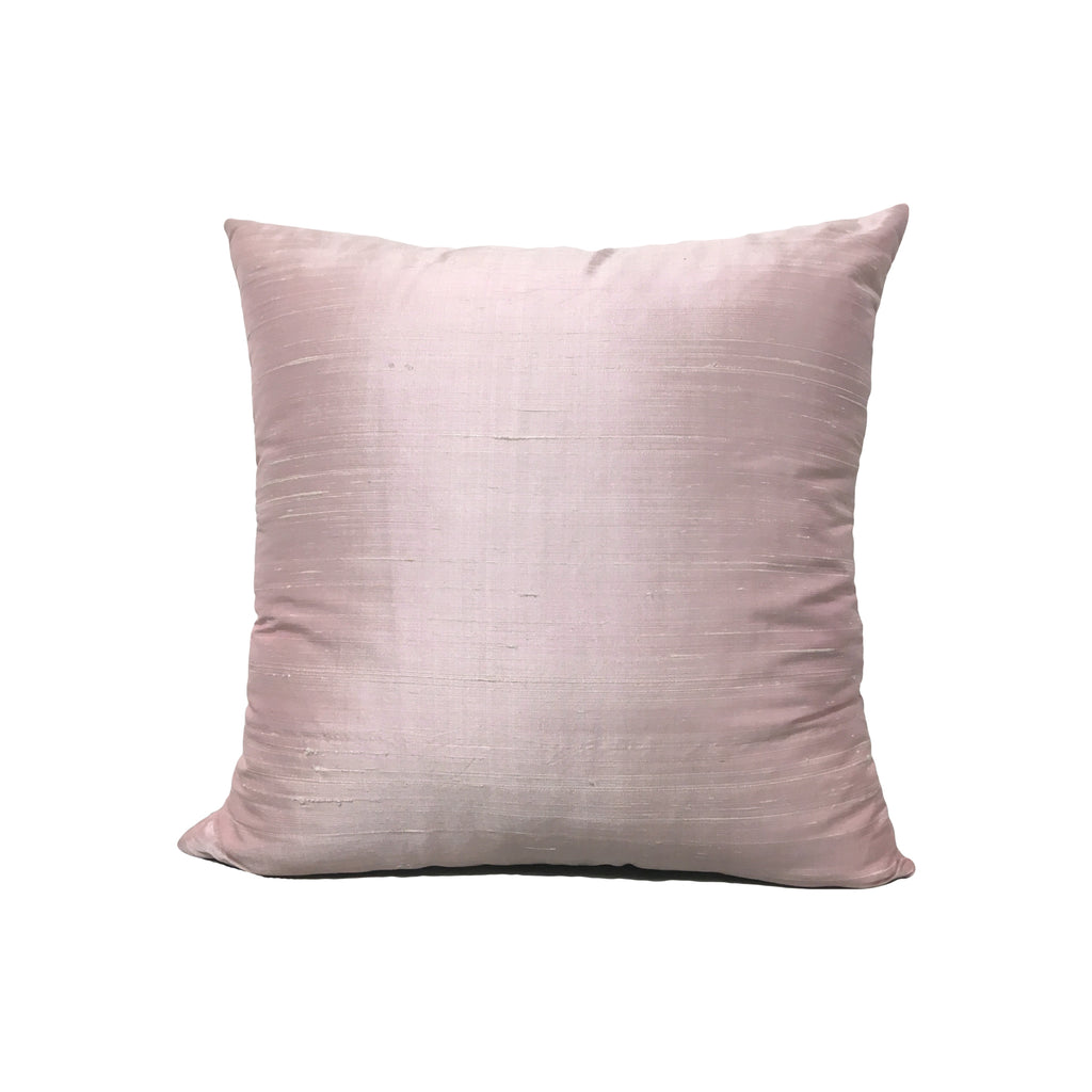 Dupioni Silk Baby Pink Throw Pillow 17x17""