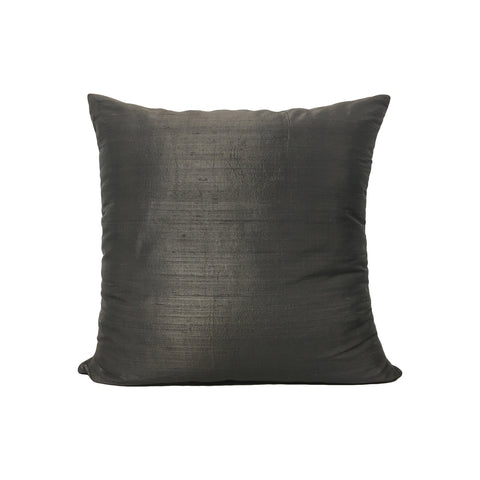 Dupioni Silk Baltic Grey Throw Pillow 17x17""