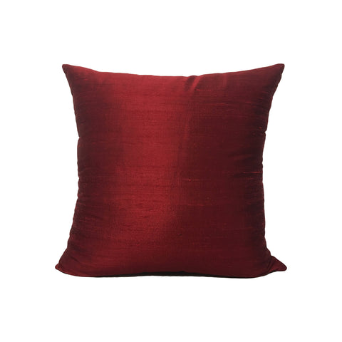 Dupioni Silk Black Cherry Throw Pillow 17x17""