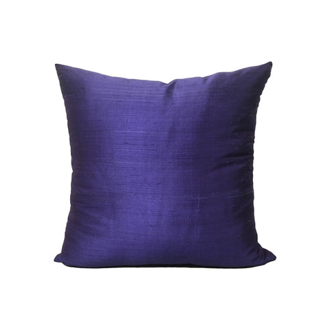 Dupioni Silk Blueberry Throw Pillow 17x17""