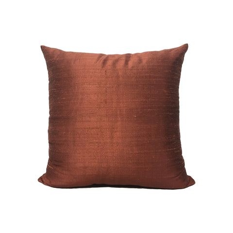 Dupioni Silk Burnt Sienna Throw Pillow 17x17""